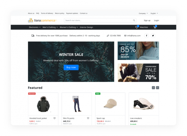 boutique en ligne solution eCommerce Liana