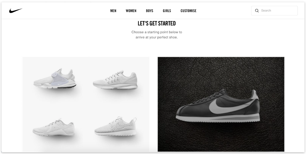 NikeID Customization service