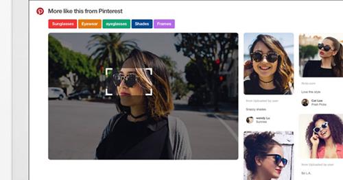 Reconnaissance visuelle sur Pinterest
