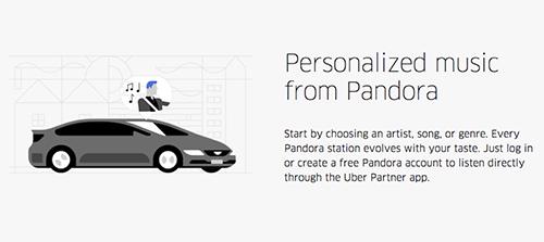 Musique à la demande dans les trajets Uber grâce à la fusion des services avec Pandora