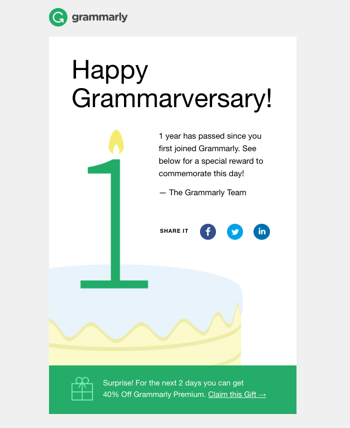 Grammarly email exemple