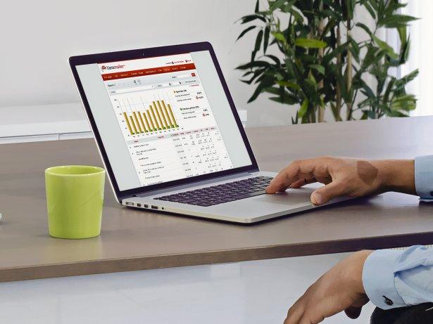 Interface utilisateur de la solution email marketing de Liana