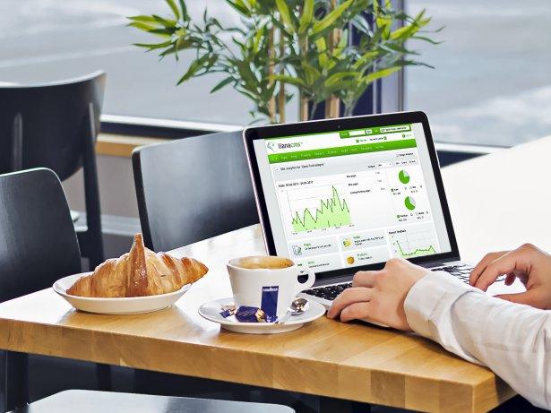 Système de gestion de contenu Liana avec une vue desktop
